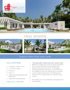 Villa Atlantis Floor Plans & Description