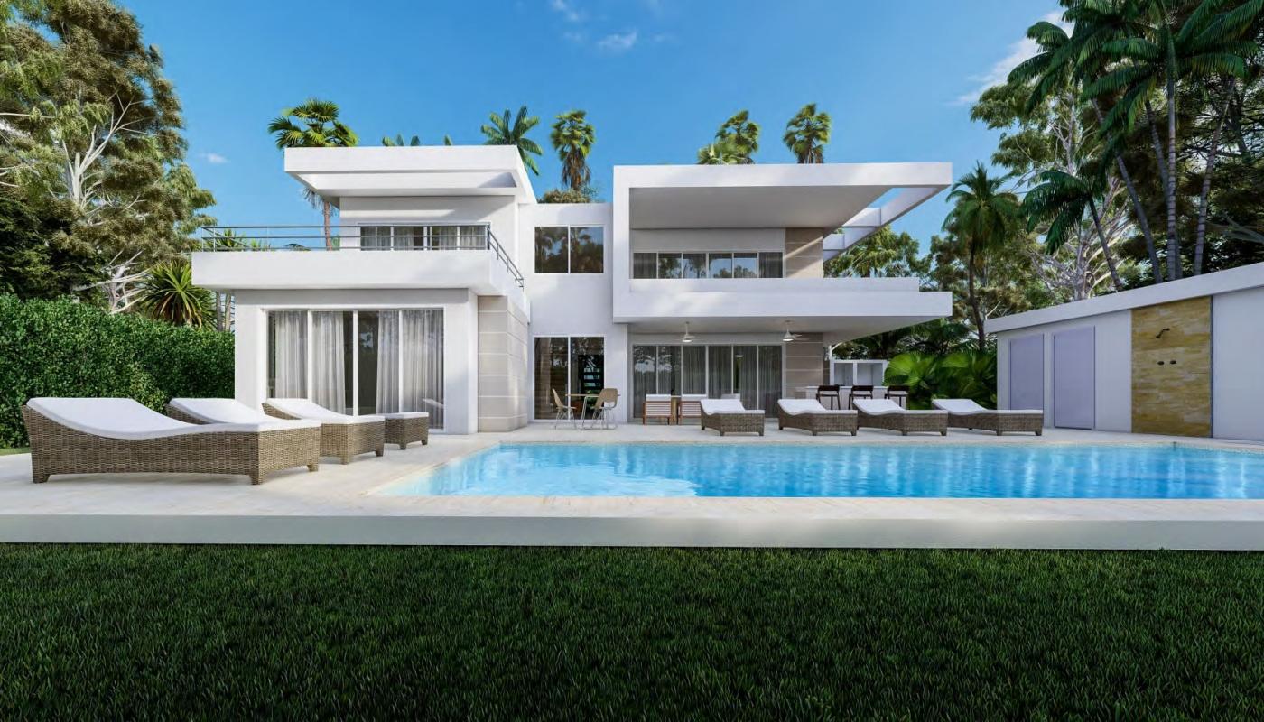 Modern Villa Seashell Design